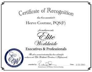 Herve Couture, PQS(F)