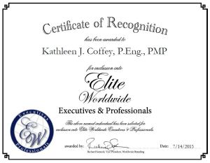 Kathleen J. Coffey, P.Eng., PMP