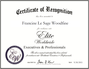 Le Sage Woodfine, Francine 1601715